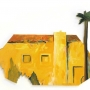 Yellow House with Palm